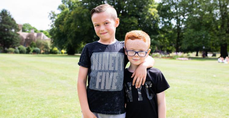 2 male children