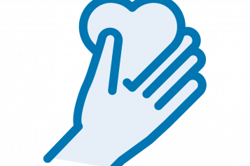 Blueheart hand graphic
