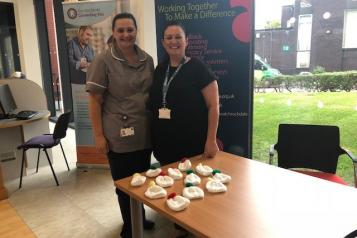 Emma Radcliffe, Healthwatch Rochdale Community Project Worker and Samantha Wheelan
