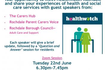 An Audience with Carers Service and Support Poster