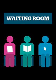 GP waiting room graphic